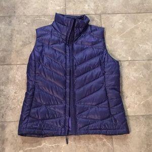 Purple North Face Vest Size Medium
